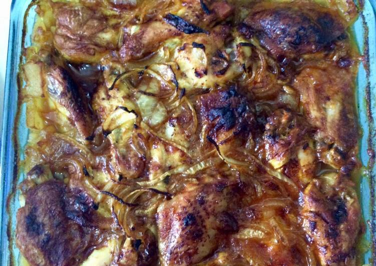 Alitas de pollo horneadas con patatas🍗🥔