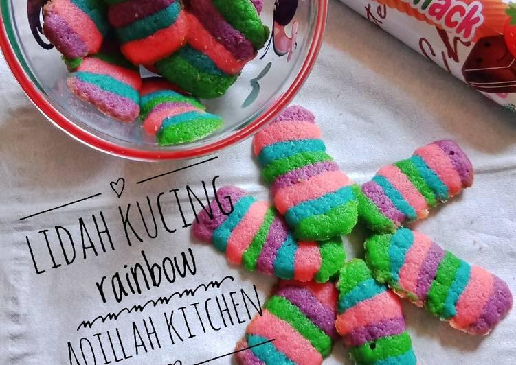 Lidah Kucing Rainbow Teflon