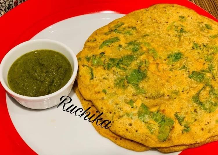 Recipe of Favorite Jowar Spinach Pancakes