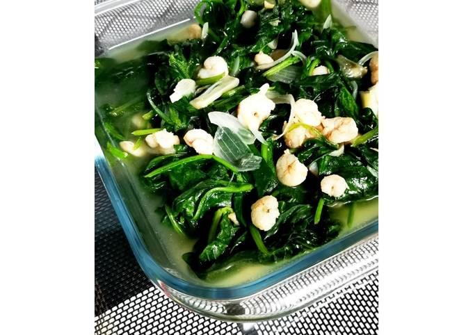 Baby Spinach Goreng Udang