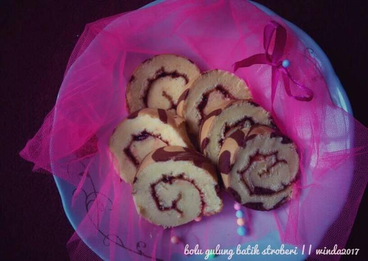 Bolu Gulung (Roll Cake) 3 telur