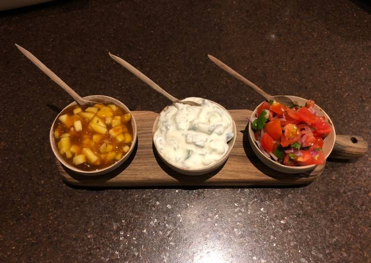 3 Indian dips for popadoms