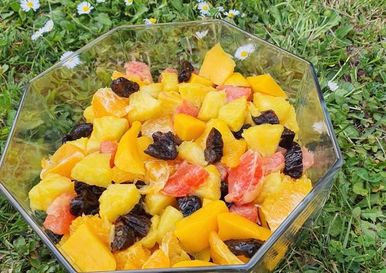 Salade de fruits acidulée et sucrée