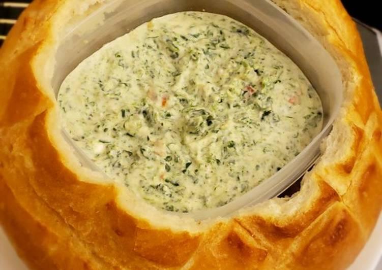 Recipe: Appetizing Creamy Cheese Spinach Dip