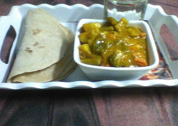 Steps to Prepare Perfect Dahi mix veg curry