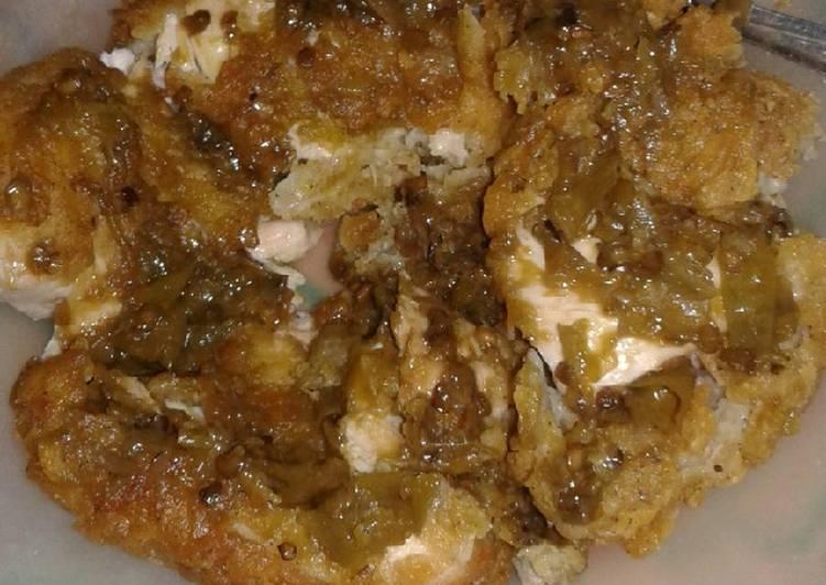 Ayam Geprek Crispy Sambal Ijo
