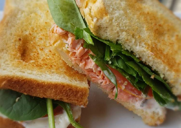 Leftover Steelhead Trout BLT with Mayo Dill Sauce