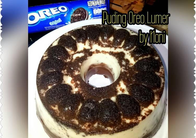 Puding Oreo Lumer (cemilan manis)