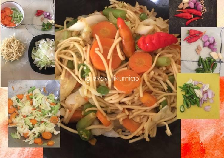 Mie Goreng Jawa Sayur (Menu Diet Sehat)
