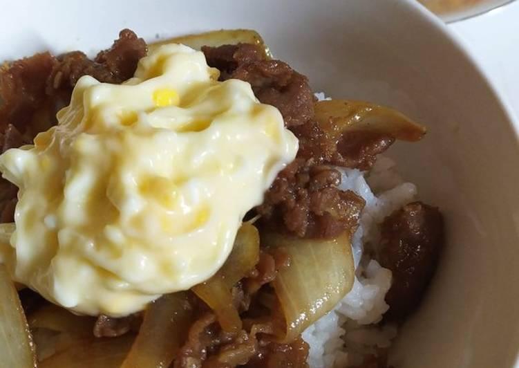 Langkah-Langkah Memasak Teriyaki Beef Bowl with Egg Mayo Dressing…