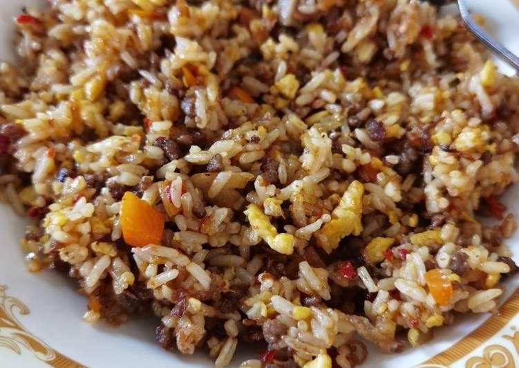 Nasi goreng daging giling
