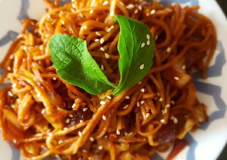 How to Make Speedy Veg hakka noodles in Mexican style
