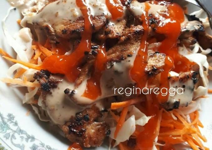 Ayam Panggang Acar Mayo (Menu Diet Ringan)