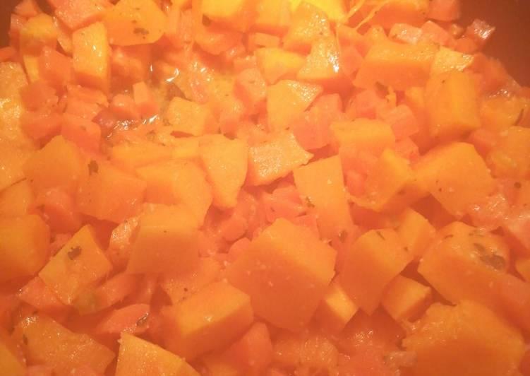 Poêlée carottes/potimarron