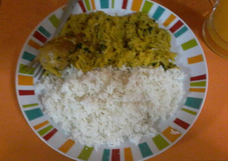 arroz blanco do pollo receta