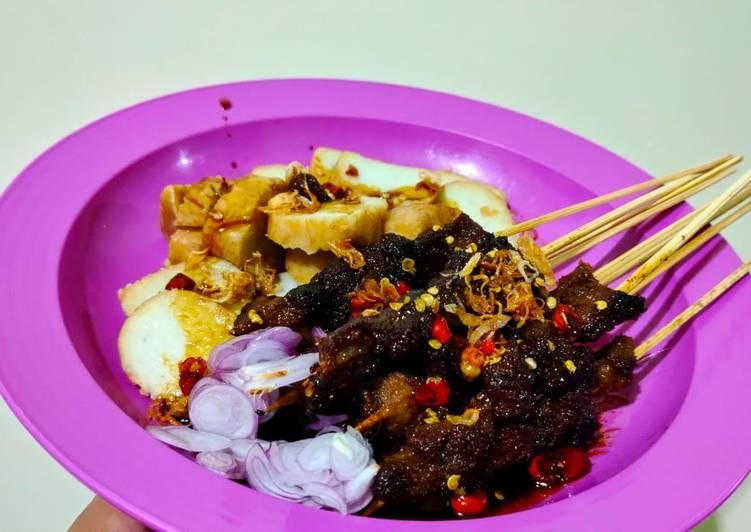 Sate Maranggi daging sapi (pakai teflon)
