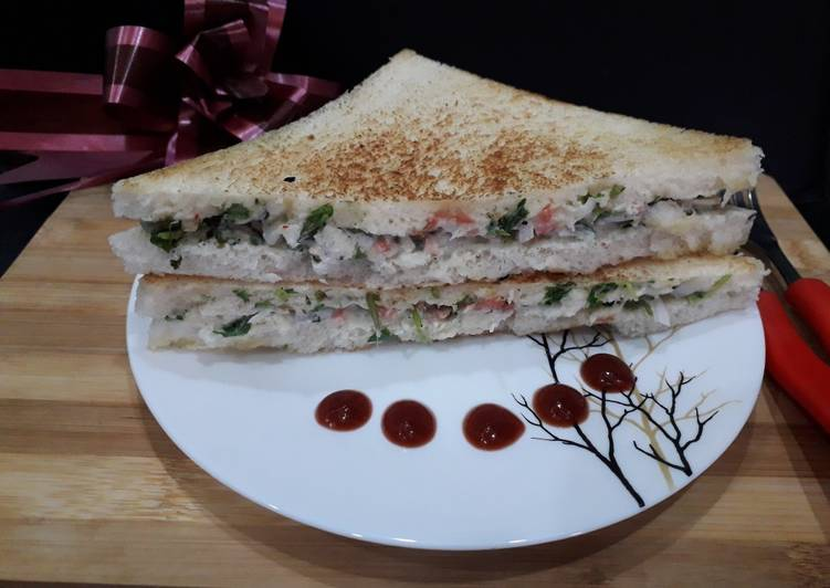 Step-by-Step Guide to Prepare Perfect Curd (dahi)sandwich
