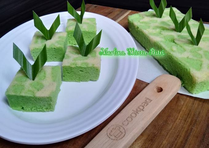 Brownies Pandan Kukus Tanpa SP, BP, dan baking soda