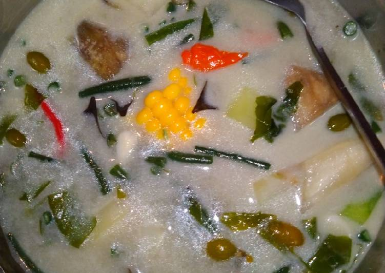 Sayur lodeh cemplang cemplung