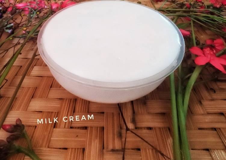 81. Milk cream