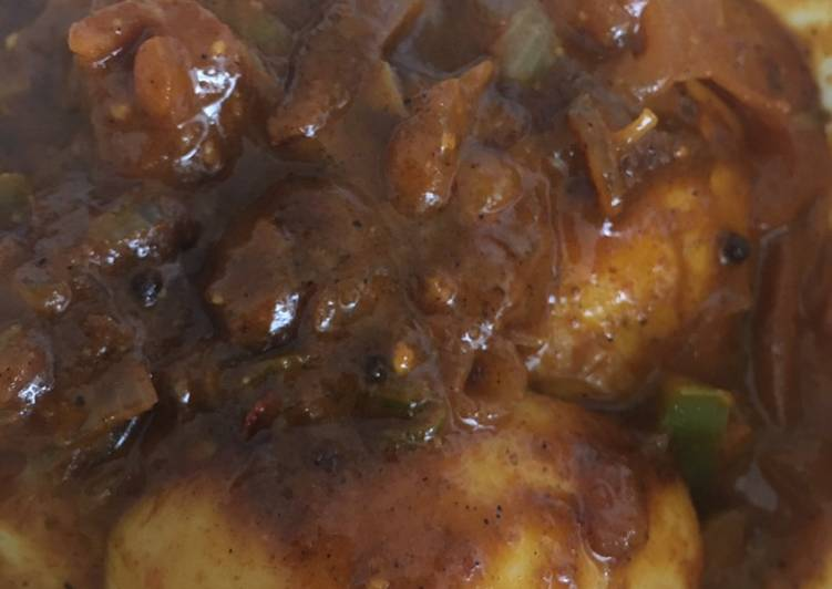 Recipe of Quick Fried Egg Masala