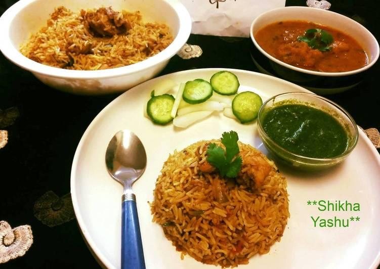 Steps to Make Perfect Shahi_Chicken_Korma_With_Butter_Chicken_Biryani