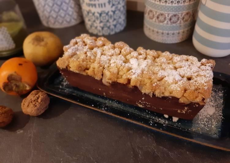 Top 6 Meilleures Recettes de Crumble cake chocolat-pommes-poires