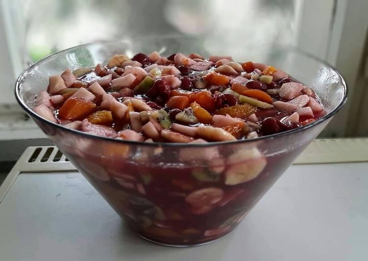 gyümölcs saláta receptek a has vékonyításáhozi