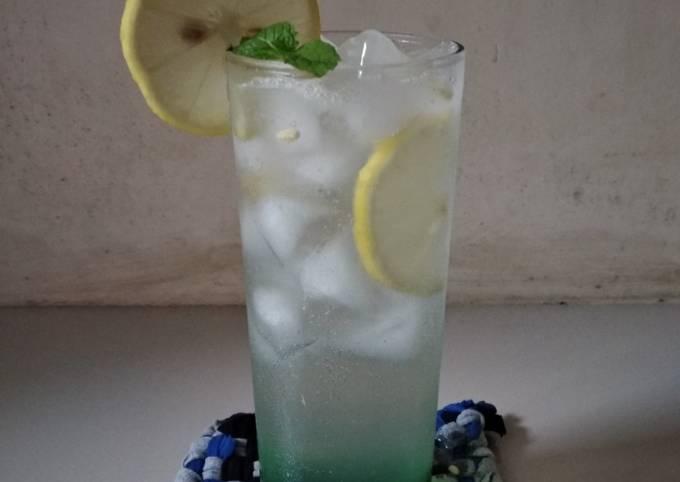 Green Soda Lemon Squash | Moctail