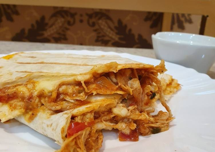 Recipe: Yummy Buffalo chicken quesadillas