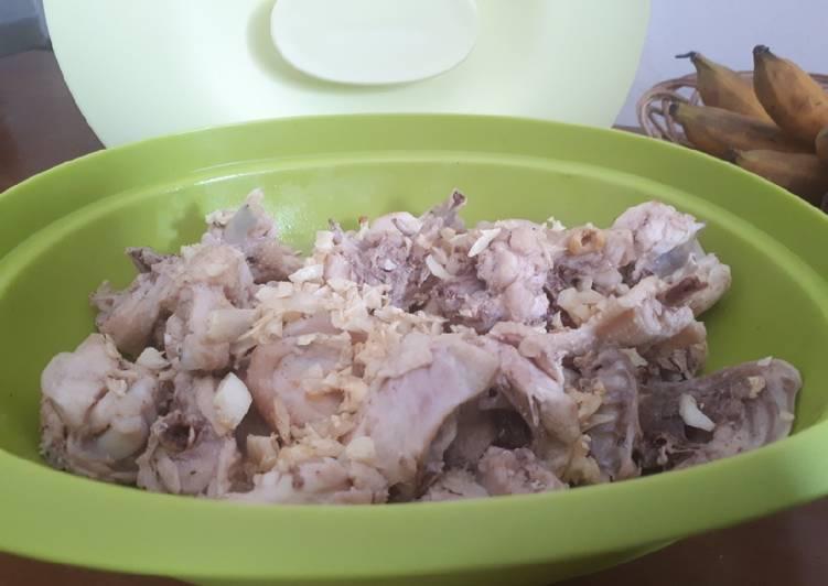 Ayam Pek Cam Ke/Ayam tim (pendamping nasi hainan)