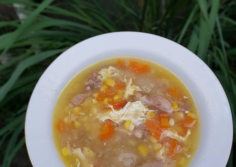 Sup jagung Baso Aci