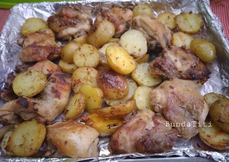 528.Ayam Kentang Panggang