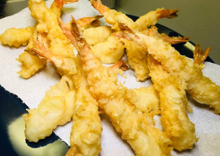 How to Cook Tasty How to cook crispy prawn tempura
