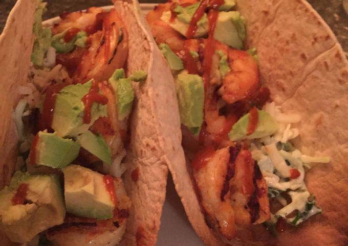 Low Carb Spicy Shrimp Tacos
