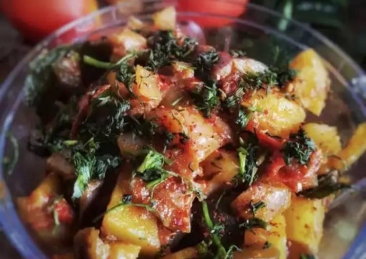 Aloo baingan sabzi(potato, eggplant vegetable)