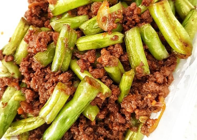 Tumis Buncis Cah Daging