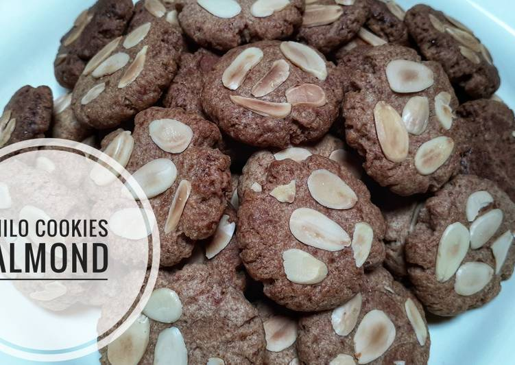 Milo cookies almond