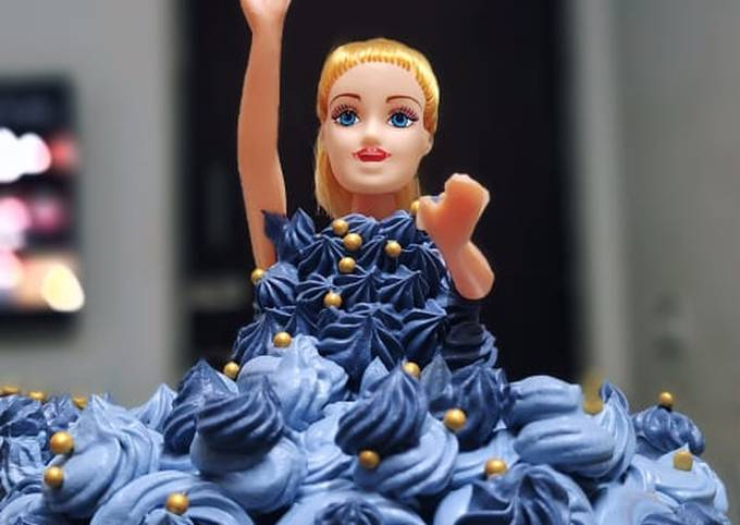 Barbie cake without oven, without Barbie mould