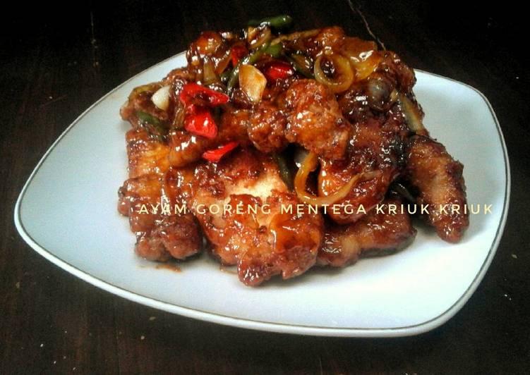 Resep Ayam Goreng Mentega crispy kriuk