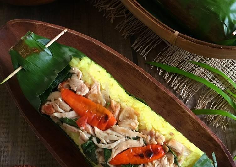Nasi Kuning Bakar Ayam