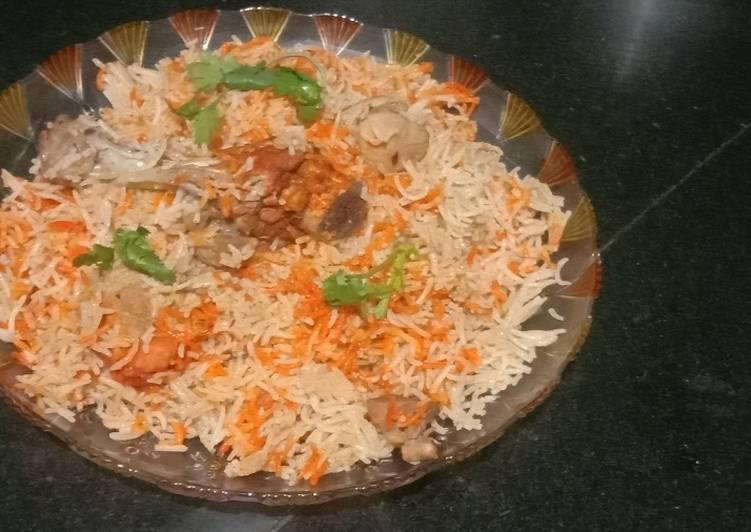 Delhi style chicken biryani
