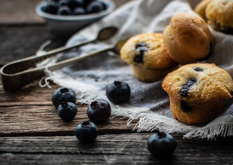 Recipe of Super Quick Homemade Blueberry Muffins
