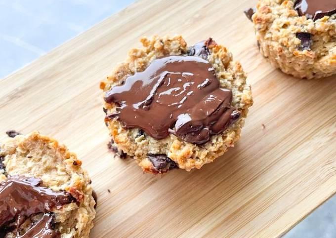 Petits muffins légers chocolatés au goût de noisette.