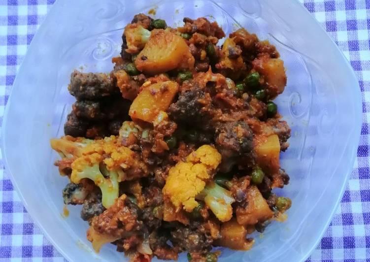 Recipe of Super Quick Homemade Dry purple Cauliflower bhaji