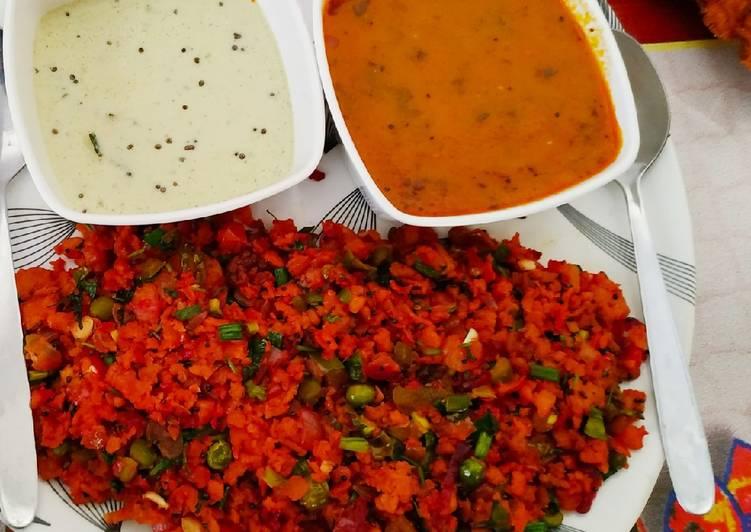 Steps to Prepare Perfect Dosa fry with sambar chutney