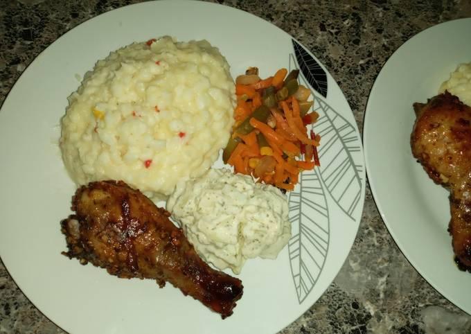 African Samp & Chicken