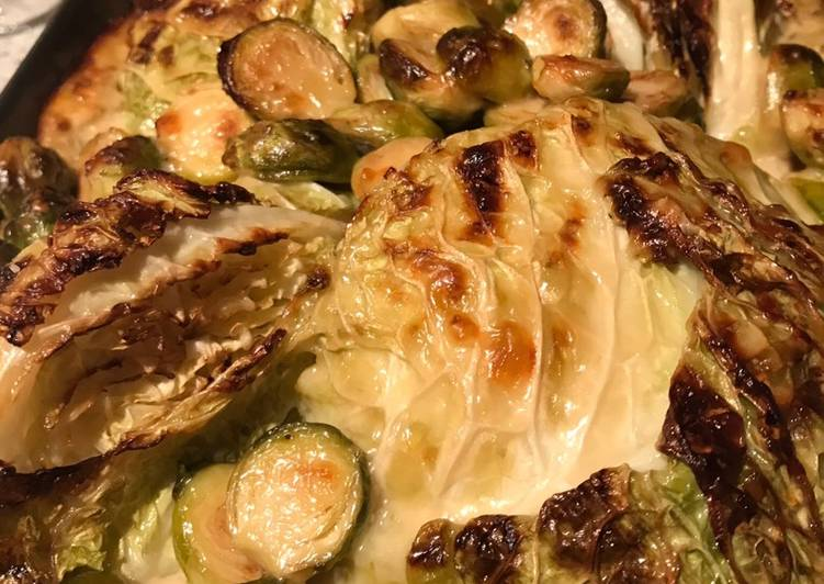 Steps to Prepare Ultimate Savoy cabbage with goat's cheese and barley risotto