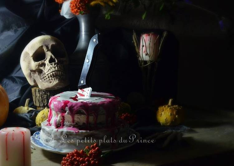 Gâteau sanglant pour Halloween