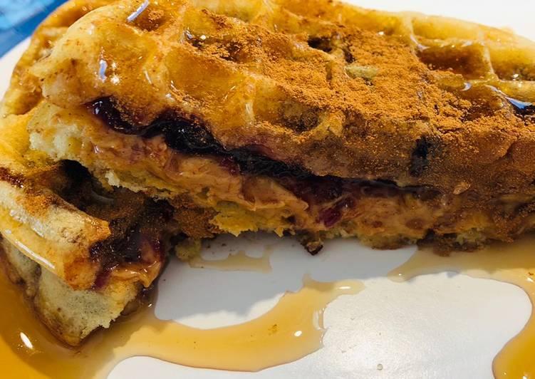 Recipe of Award-winning Peanut 🥜 Butter Jelly Waffles 🧇